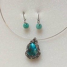 Sady šperkov - sada šperkov s azuritom... - 10077168_
