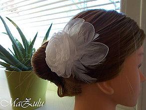 Ozdoby do vlasov - svadobná spona pre nevestu - 10080255_