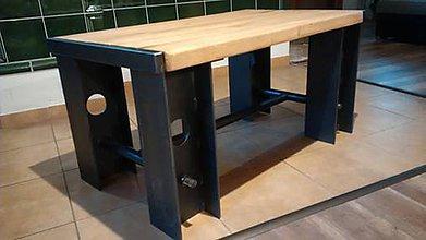 Nábytok - industrialny stolik TONÁŽ - 10078843_