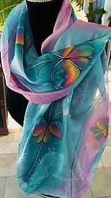Šatky - motýle - 10078881_