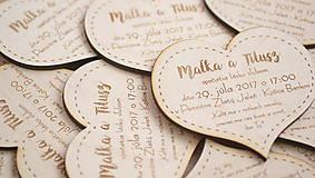 Papiernictvo - Gravírované drevené svadobné oznámenie Katka na objednávku - 10078538_