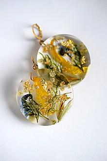 Náušnice - Náušnice Lúčne kvety (2524 A CHO) - 10079439_
