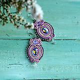 Náušnice - Colorful Crystals n.9 - sutaškové náušnice - 10080026_