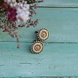 Náušnice - Sparkly earrings n.7 - vyšívané náušnice - 10080028_