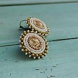 Náušnice - Sparkly earrings n.7 - vyšívané náušnice - 10080029_