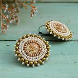 Náušnice - Sparkly earrings n.7 - vyšívané náušnice - 10080030_