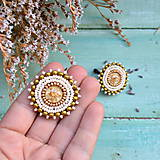 Náušnice - Sparkly earrings n.7 - vyšívané náušnice - 10080032_