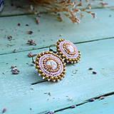 Náušnice - Sparkly earrings n.8 - vyšívané náušnice - 10080045_