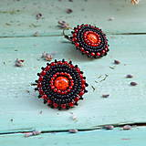 Náušnice - Sparkly earrings n.9 - vyšívané náušnice - 10080053_