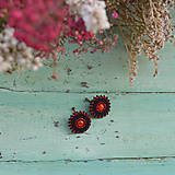 Náušnice - Sparkly earrings n.9 - vyšívané náušnice - 10080054_