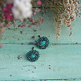 Náušnice - Sparkly earrings n.10 - vyšívané náušnice - 10080062_