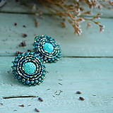 Náušnice - Sparkly earrings n.10 - vyšívané náušnice - 10080063_