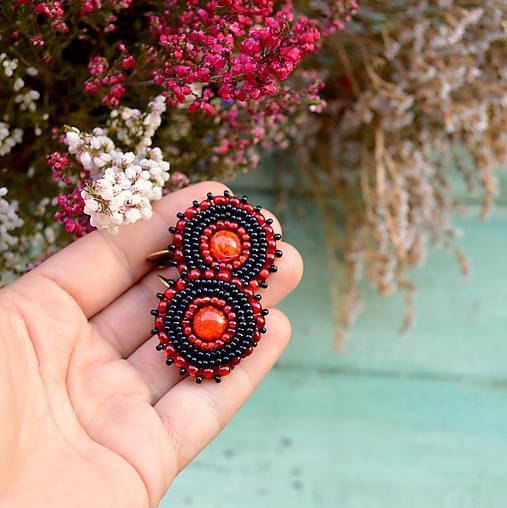 Sparkly earrings n.9 - vyšívané náušnice