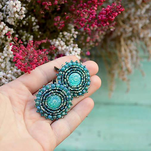 Sparkly earrings n.10 - vyšívané náušnice