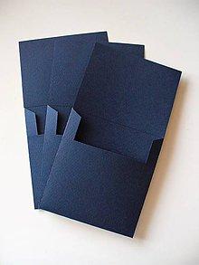 Papiernictvo - jednoduchý obal na CD/ dark blue - 10077753_