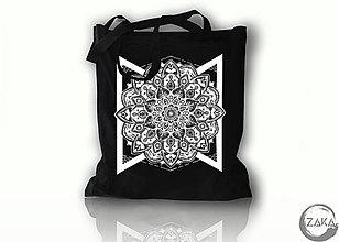 Nákupné tašky - Nákupná čierna taška - Mandala - 10079253_