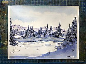 Obrazy - Obraz - Zasnežený les počas Vianoc - 10079022_