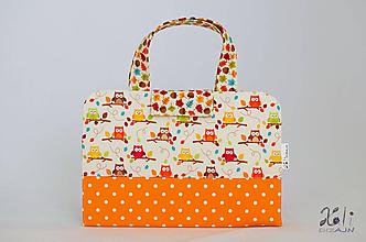 Detské tašky - Detský kufrík - pastelkovník Sovičky - 10079301_