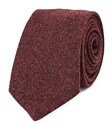 Doplnky - Pánska kravata z vlnenej látky (bordová) - 10077952_