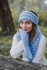 Čiapky - Čelenka modrá - 10076557_