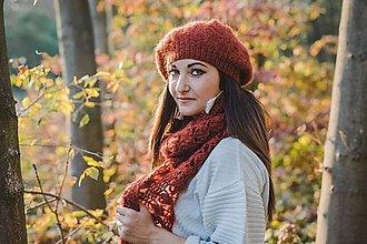 Čiapky - Set hrdzavej farby - 10079427_