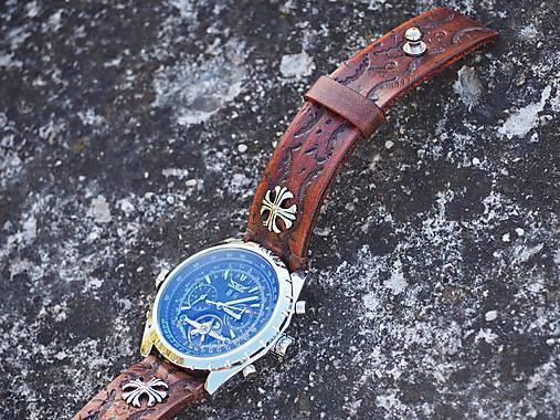 6a166642e Vintage hnedý kožený remienok 24mm, keltský kríž / leon - SAShE.sk ...