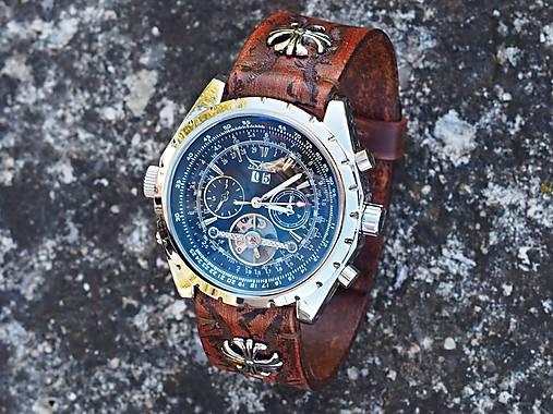 Mahagónový kožený remienok na hodinky 11009afc382