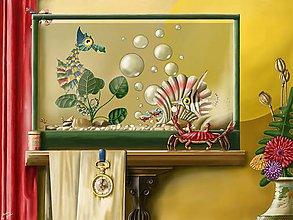 Obrazy - Krab s perlou - tisk - 10075948_