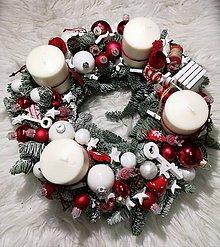 Dekorácie - Adventný veniec Vianočný - 10077281_