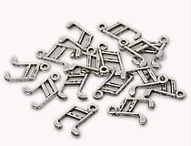 Komponenty - PR112 Prívesok strieborný NOTA 1,4 x 1,0 cm - 10075898_