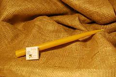 Svietidlá a sviečky - Sviečka z včelieho vosku vysoká  (hladká) - 10079750_
