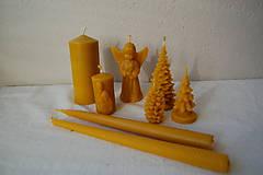 Svietidlá a sviečky - Sviečka z včelieho vosku vysoká  (hladká) - 10079751_