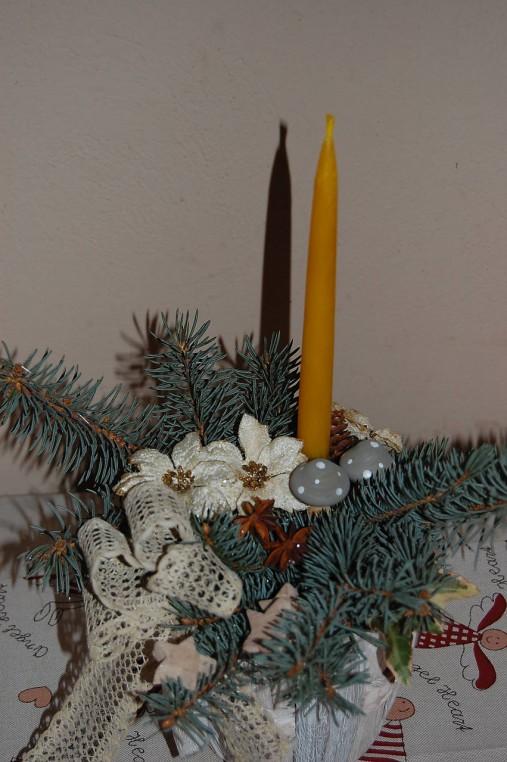 Sviečka z včelieho vosku vysoká  (hladká)