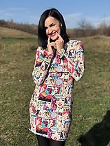 Teplákové šaty na dojčenie s 3/4 rukávom - POP ART