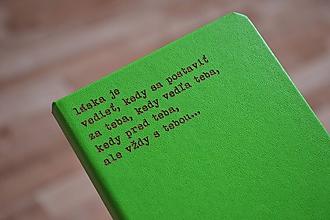 Papiernictvo - Zápisník - Láska je vedieť... - 10077813_