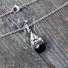 Náhrdelníky - Náhrdelník ACHÁT & CH.OCEL - 10079280_