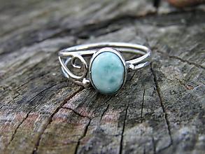 Prstene - Strieborny prsteň Ag 925 Larimar - 10076149_