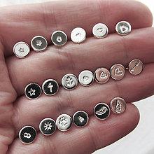 Sady šperkov - Sketch_One :-) kusovky 6mm / strieborné napichovacie náušnice - 10079455_