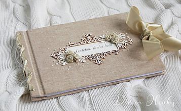 Papiernictvo - Svadobná kniha hostí - 10079874_