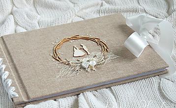 Papiernictvo - Svadobná kniha hostí - 10079910_