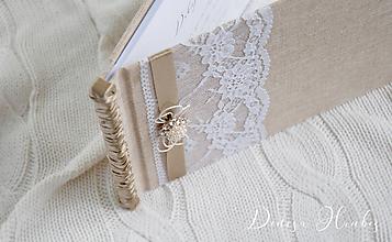Papiernictvo - Svadobná kniha s perličkami - 10079991_