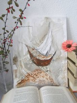 Obrazy - Abstraktná Loď / Abstract Boat - Originál (Akryl) - 10078437_