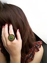 """Prstene - Drevený prsteň s výšivkou """"Mach"""" - 10079746_"""