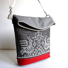 """Veľké tašky - Vyšívaná kabelka """"Vtáčí folk"""" - 10078839_"""