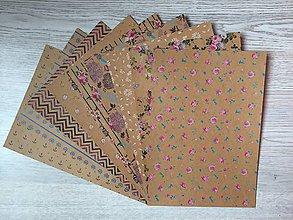 Papier - Dizajnérsky kraftový kartón  - 10076942_