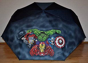Iné doplnky - ručne maľovaný dáždnik -hrdinovia Avengers - 10075978_