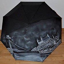 Iné doplnky - Ručne maľovaný dáždnik - Bratislava - 10075989_