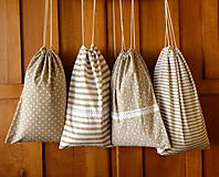 Úžitkový textil - Sada bavlnených vreciek - 10076217_