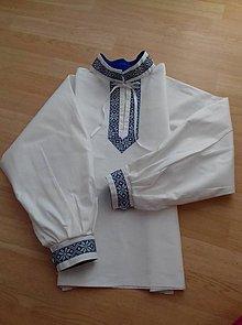 Detské oblečenie - Chlapčenská folklorna košieľka - 10078652_