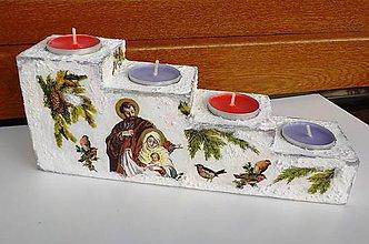 Svietidlá a sviečky - Svietnik sv. rodina - adventný II - 10082477_